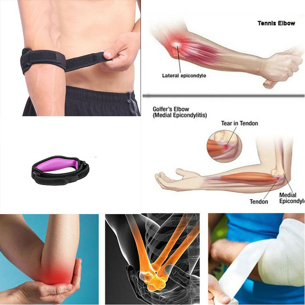 6b64c38ffd Details about Fashion Elbow Support Compression Strap Brace Lateral  Adjustable Tennis Band