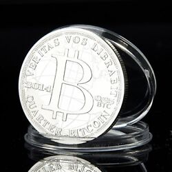 Kyпить 2014 Quarter Bitcoin 0.25 BTC Cryptocurrency Virtual Currency Silver Plated Coin на еВаy.соm