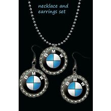 BMW car logo earring Earrings and necklace set great gift