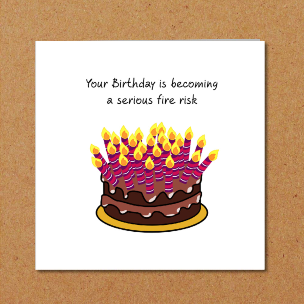 Details About Funny Birthday Card With Cake Candles Dad Mum Friend Humorous 30th 40th 50th