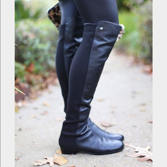 fbde3324653 Details about New Women s Vince Camuto Karita Over Knee Black Leather  Riding Boots  239 SALE!