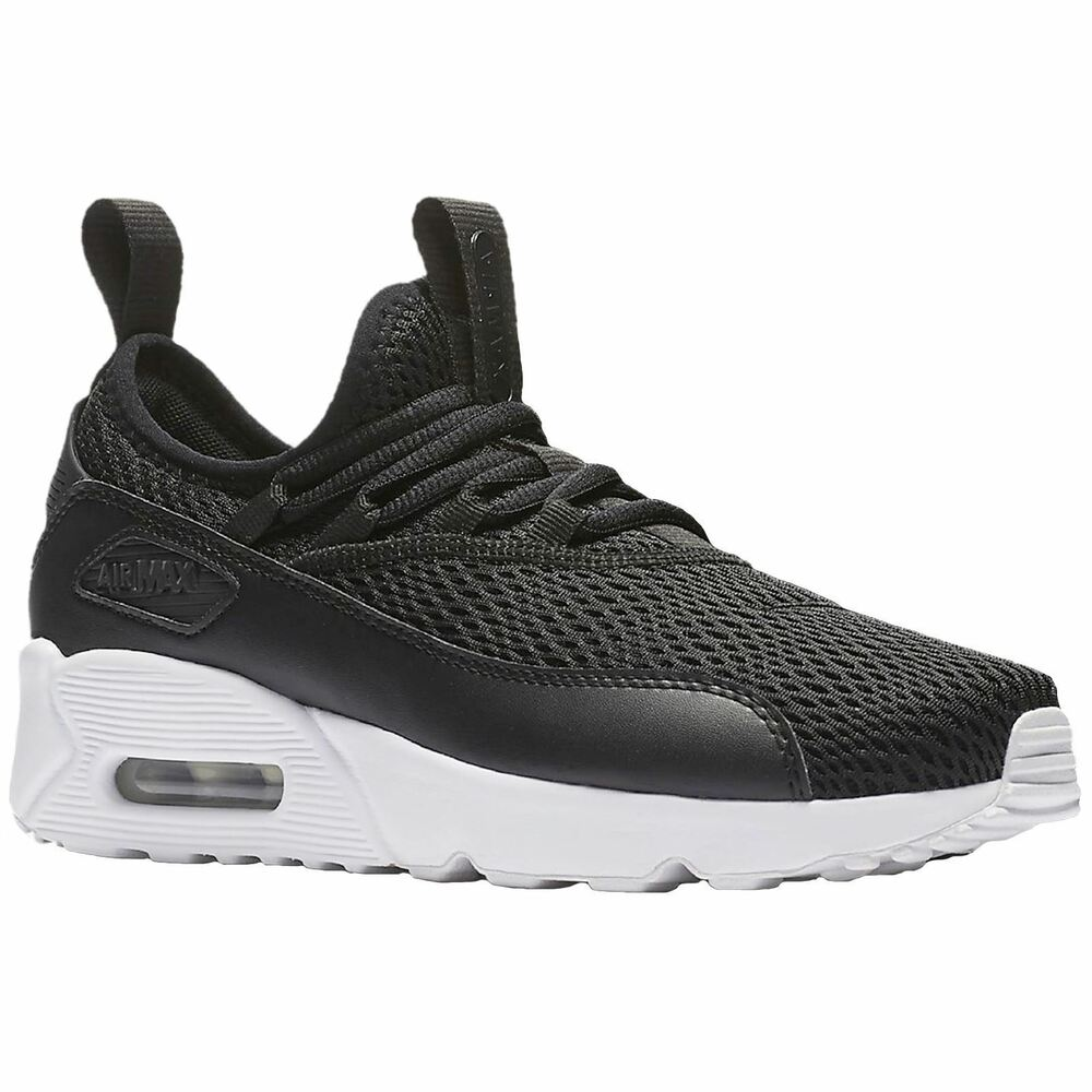 73cf8c76fde ... purchase details about nike air max 90 ez gs black white kids youth women  running shoes