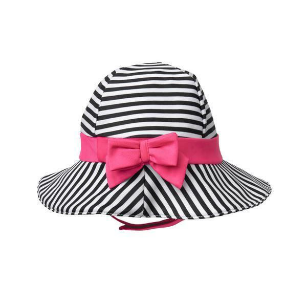 Details about NWT Gymboree Baby Buddies Girl Striped Black White Pink Bow  Sun Hat 1f5a273fbbb
