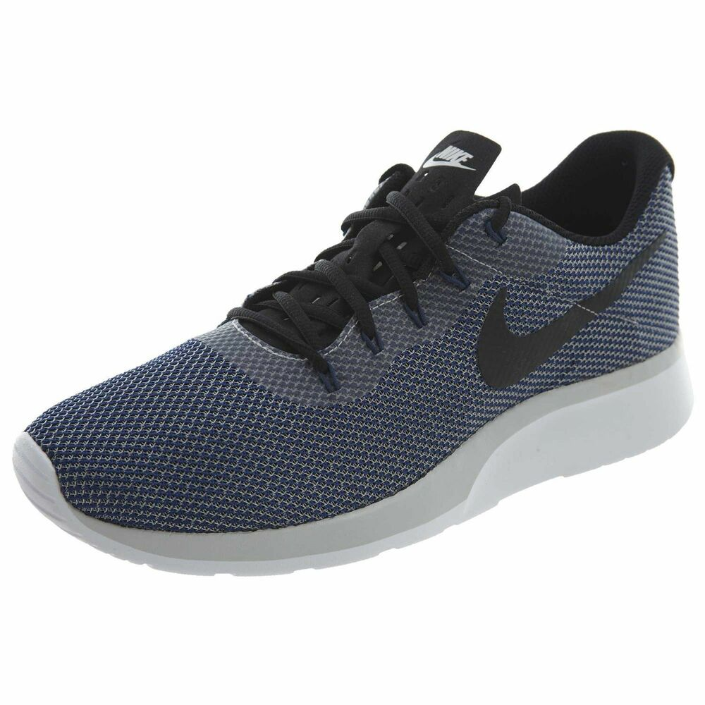 new arrival b2bc5 e1a87 Details about NIKE TANJUN RACER MEN S RUNNING SHOES  SIZE 8  921669-005  GREY BLACK-NAVY-WHITE