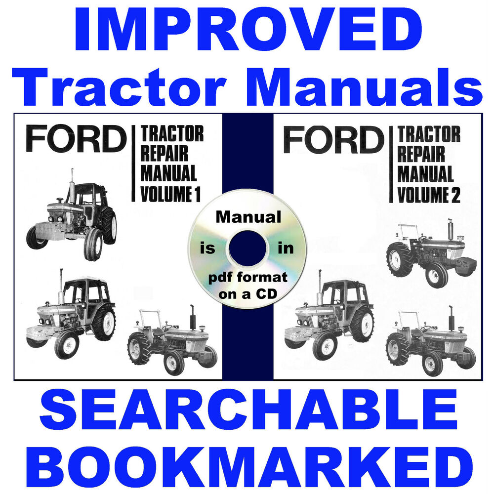 4 Vols Ford 2610 3610 4110 4610 5610 6610 6710 7610 7710 Tractor Service  Manual | eBay