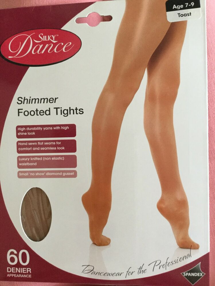 06704447114c0 Silky Dance Children's Shimmer Footed Tights Age 7-9 Colour Toast 60 Denier  | eBay