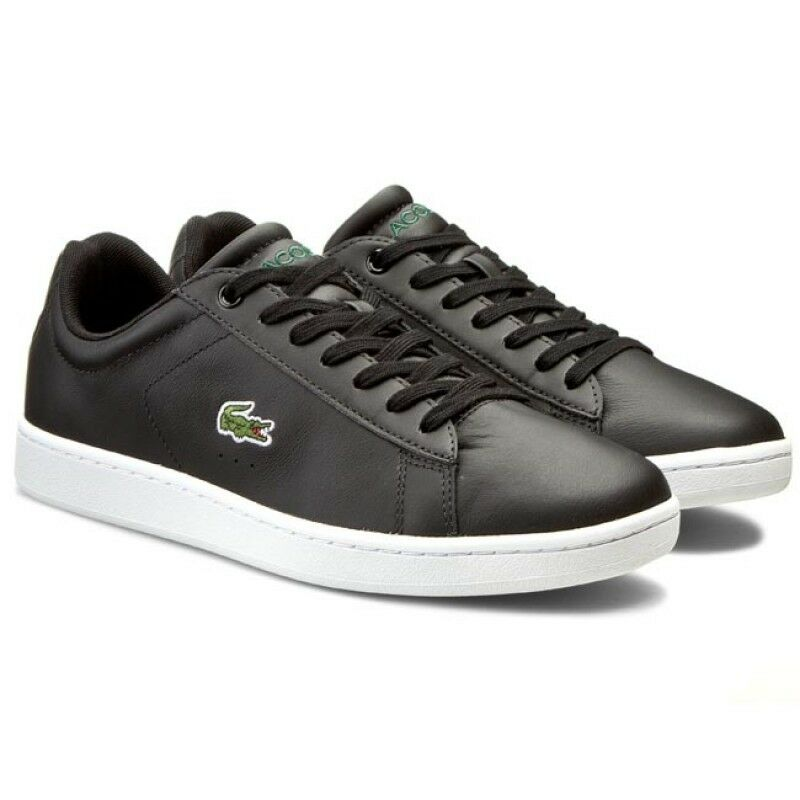 9de1427355a Details about Lacoste Men s Carnaby Evo LCR SPM Trainers Leather Shoes 7-31SPM0095024  Black
