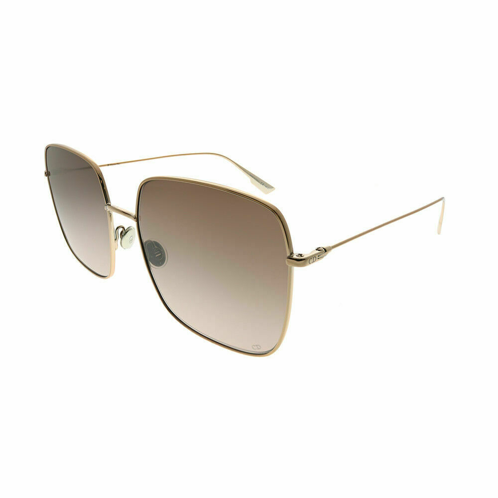 a4d57e8500a Details about Christian Dior Stellaire 1 HAM 86 Champagne Square Sunglasses  Brown Graident