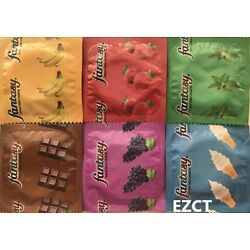 Kyпить 50 PACK Fantasy Assorted Flavors Flavored Condoms  на еВаy.соm
