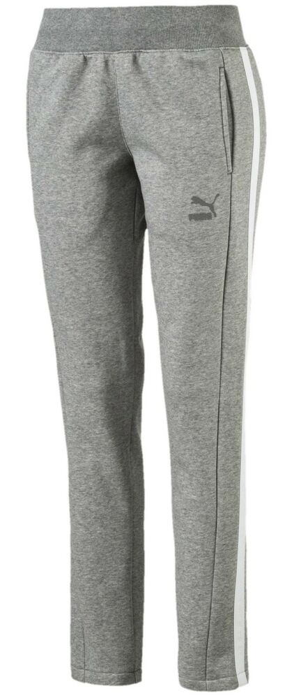 4bf39a313df5 Details about New Women s Ladies PUMA Joggers Leggings Tracksuit Bottoms  Sweat Pants - Grey