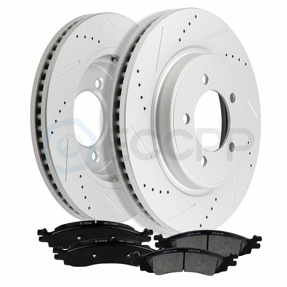 Front Discs Brake Rotors Ceramic Pads For 2007-2010 Ford