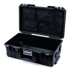 Black Pelican 1535 Air with lid organizer. With wheels.