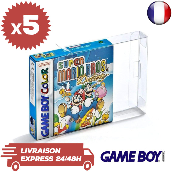 5 Boitiers Protection Jeux Nintendo GameBoy en boite Color Advance GBA GBC 0,3mm