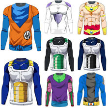Mens Long Sleeve T Shirt Dragon Ball Z DBZ Compression Sports Muscle Casual Tops