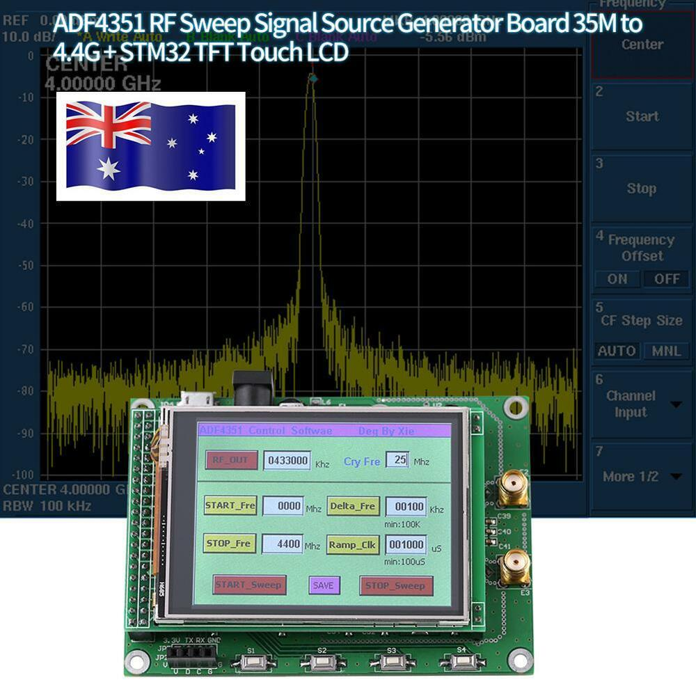 ADF4531 RF Sweep Signal Source Generator Board 35M-4 4G+ STM32 TFT Touch  LCD New 741870371875 | eBay