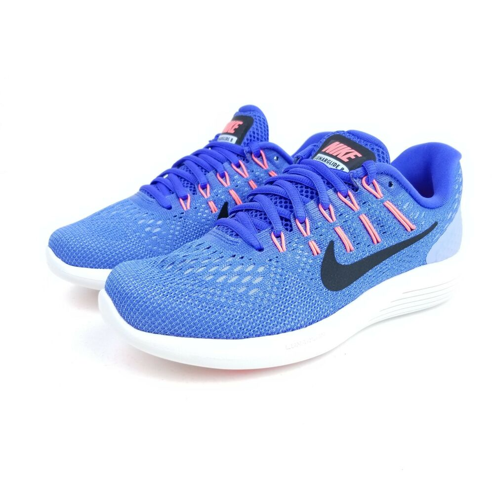 official photos 8d776 a1a47 Details about NIKE Lunarglide 8 Womens Running Shoes Blue Black White  AA8677 406 Multi Sizes