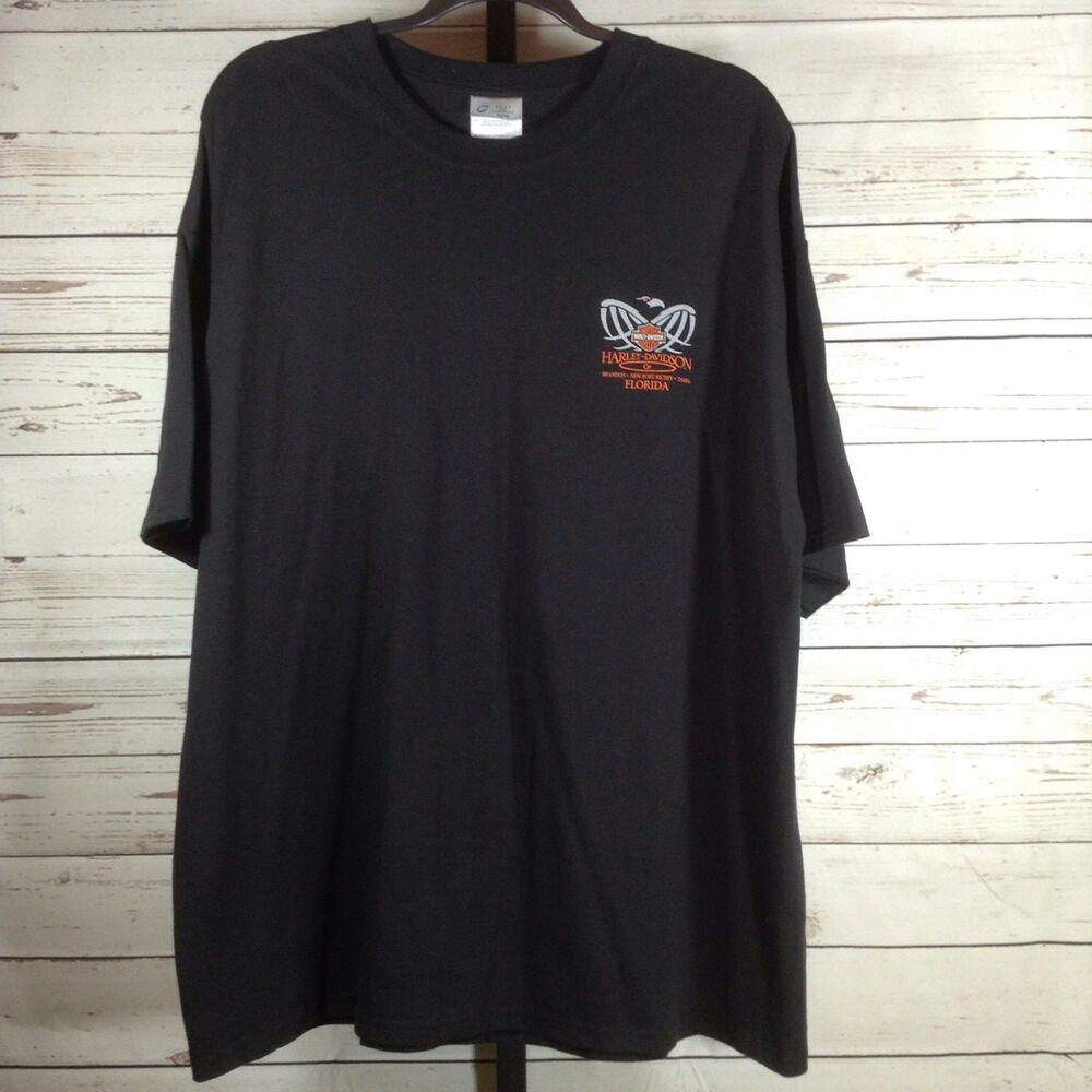 0672daf3cbc Details about Harley Davidson Mens Tee Shirt Black Florida Short Sleeve  Graphic Tee Size 2XL
