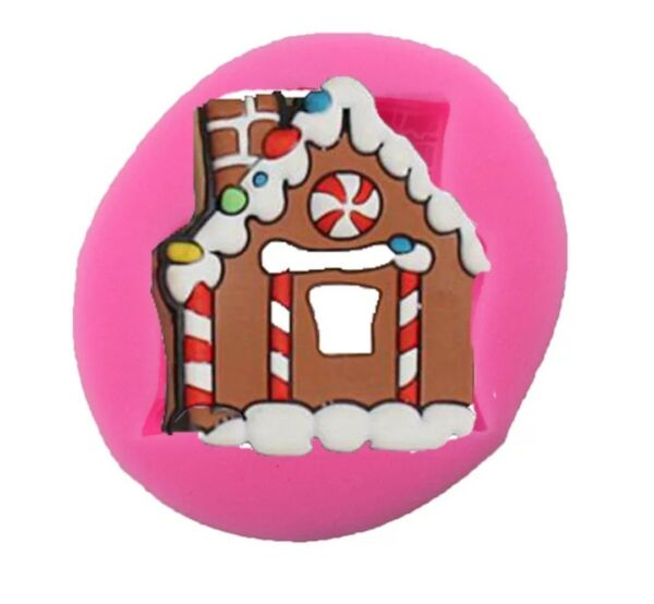 GINGERBREAD HOUSE SILICONE MOULD/MOLD-XMAS ICING/RESIN-CHRISTMAS CAKE TOPPER