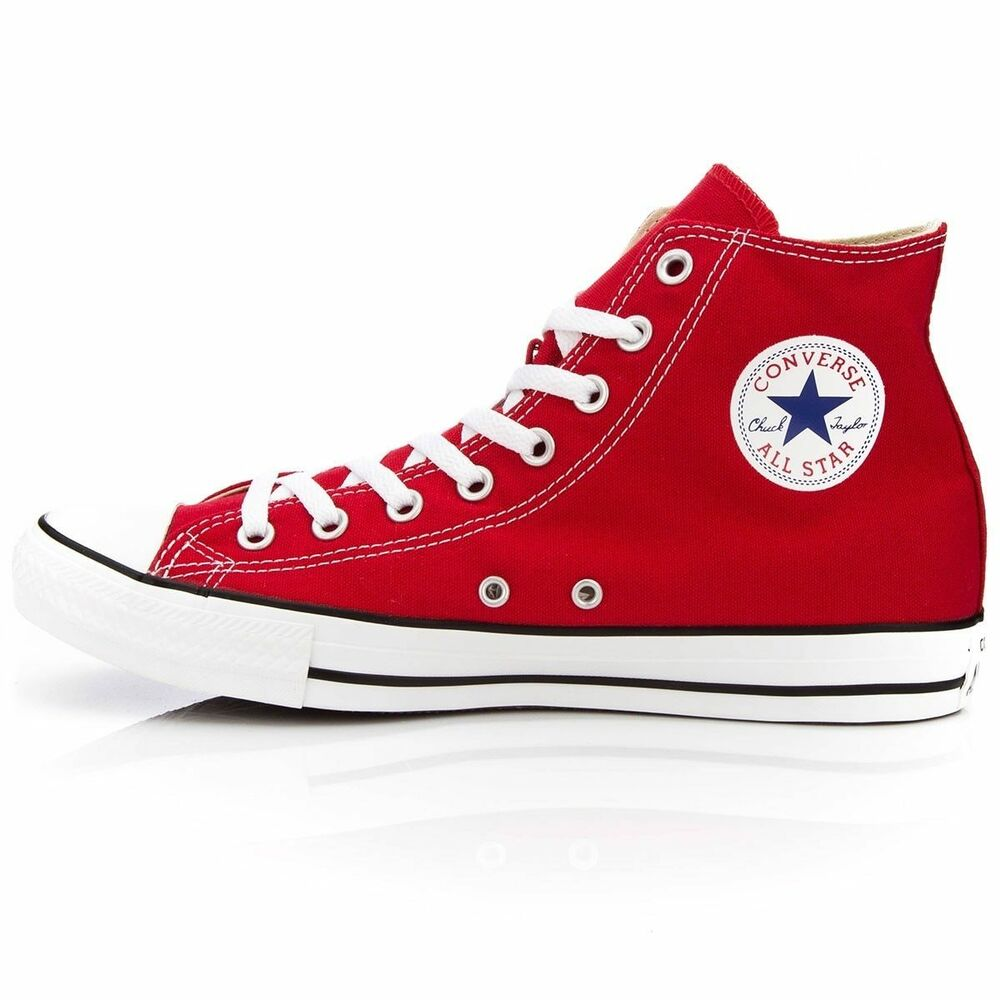 bb61e33ee66f Details about Converse Chuck Taylor All Star High Top Canvas Men Shoes Red  M9621