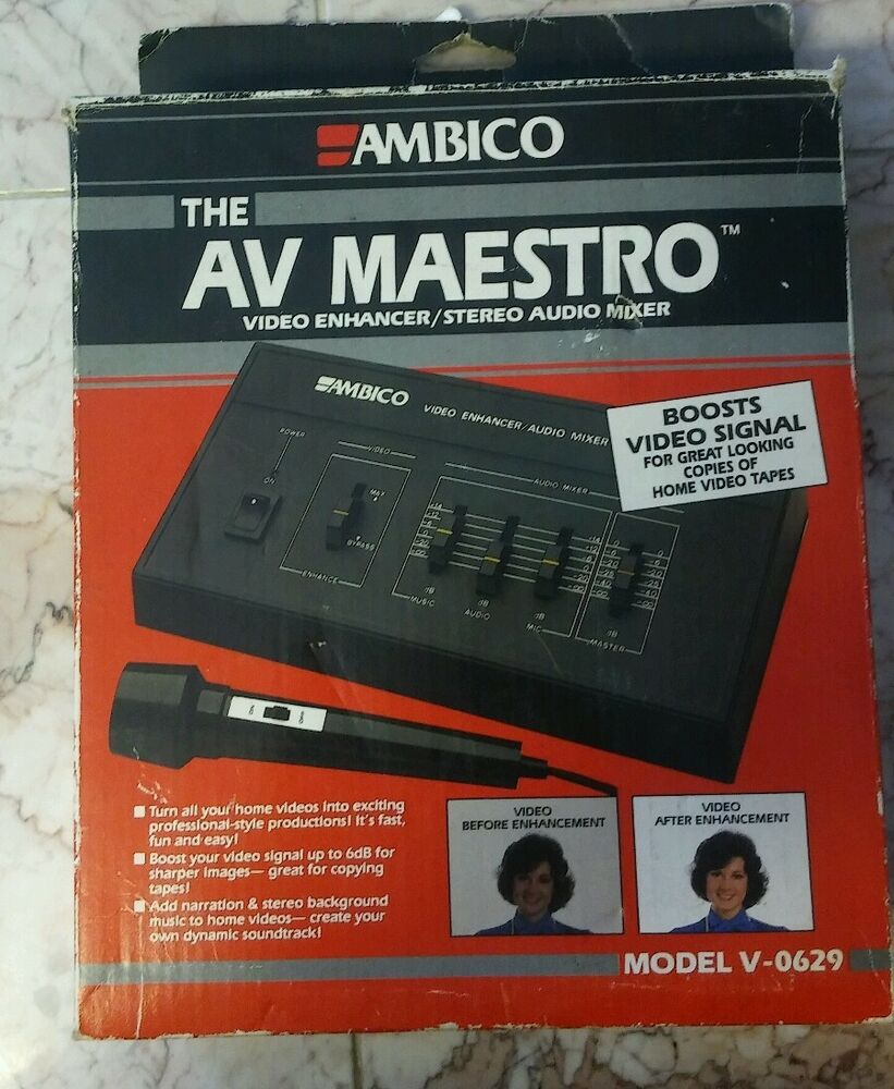 Audio For Video New Ambico Av Maestro V-0629 Video Enhancer/stereo Audio Mixer Boosts Video Sign Buy One Get One Free Video Production & Editing