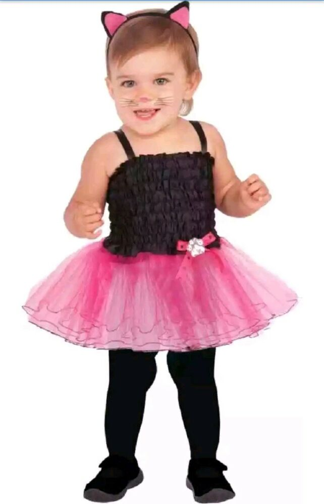 a42fa715d7c2 New Infant Girl s Cat Tutu Halloween Costume Black Pink 6-12 Months ...