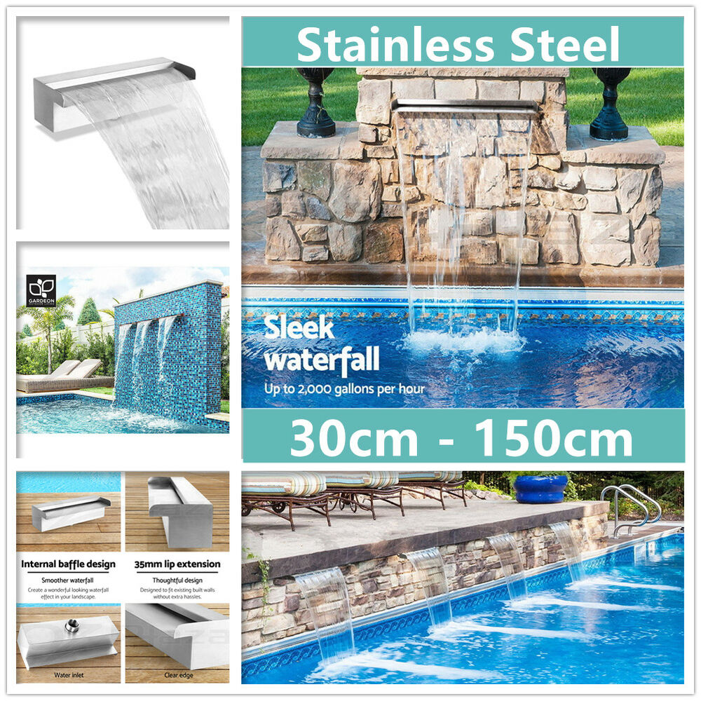 Swimming Pool Waterfall Feature Stainless Steel Water Blade Fountain
