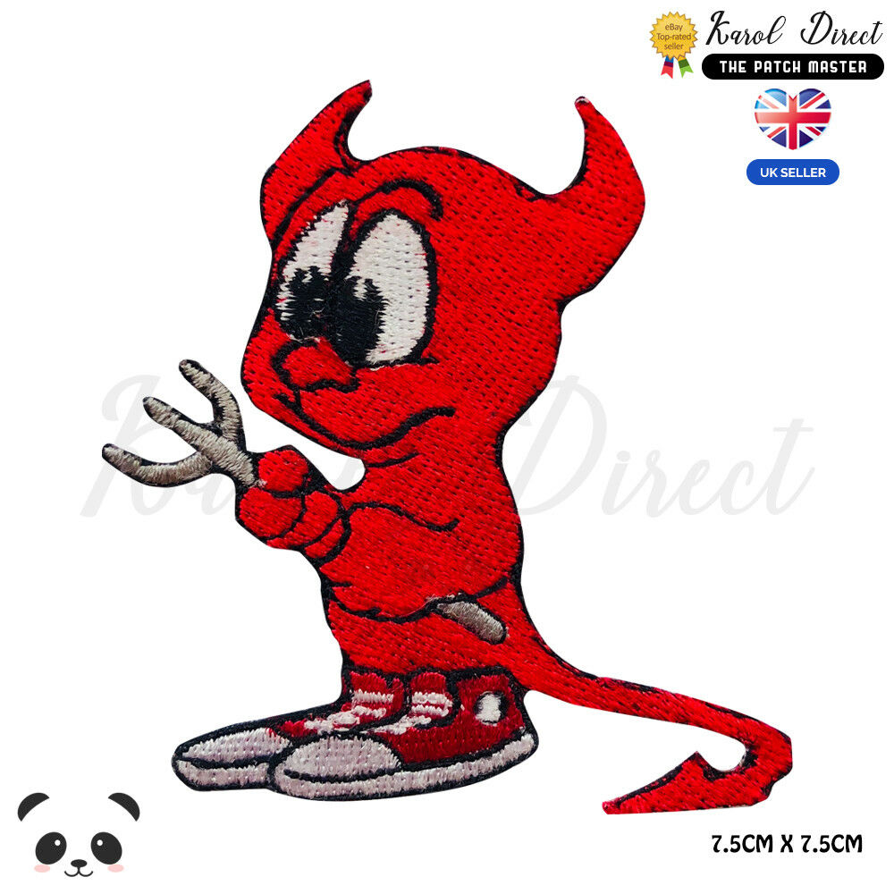 Cute Baby Devil Embroidered Iron On Sew On Patch Badge For Clothes etc |  eBay