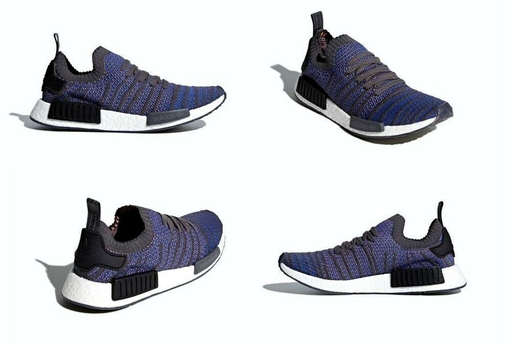 5d89461a89f Details about Adidas NMD R1 STLT PK Shoes Blue   Black   Coral Mens Size  11.5 US NIB CQ2388