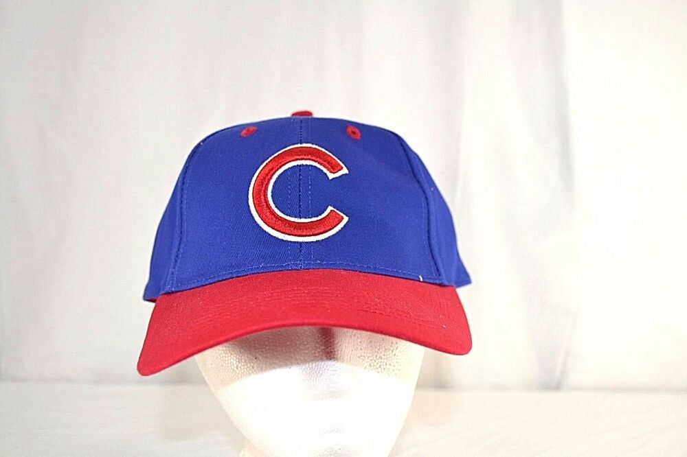 372f1057 Details about Chicago Cubs Blue/Red Baseball Cap Adjustable Youth