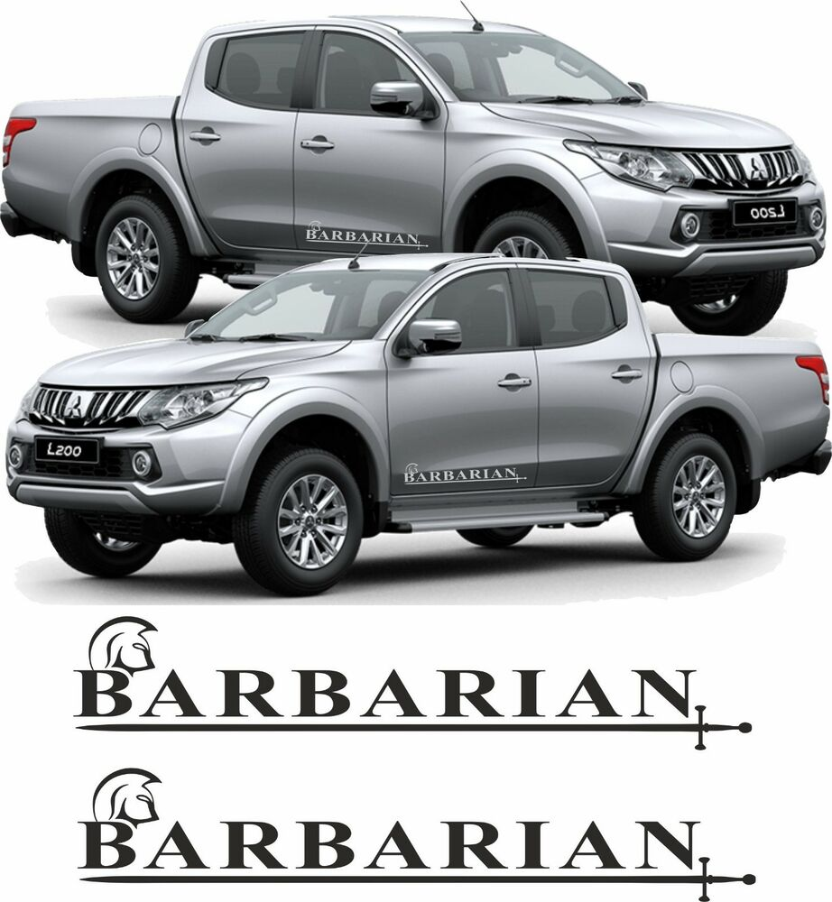 Details about mitsubishi l200 barbarian pickup custom decals stickers graphics lower doors