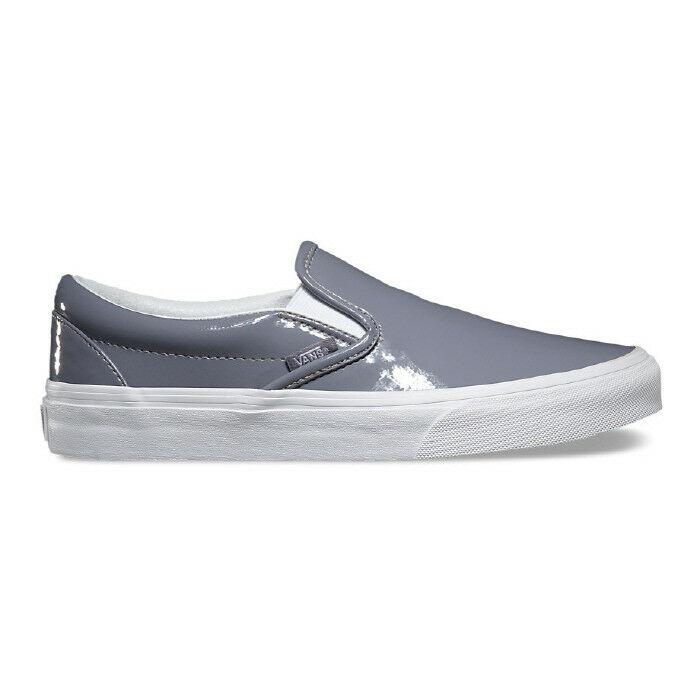 09c789dc2553 Details about New VANS Womens Classic Slip On PATENT GREY VN-03Z4IWP US W  5.5 - 8.5 TAKSE