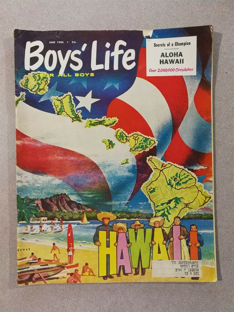 25cd6ce61d31 Boys Life Magazine June 1960 Hawaii 50th State - Adventures in Color  Photography | eBay