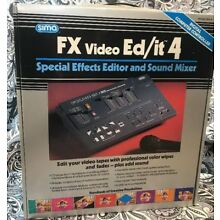 SFX-4 1992 SIMA FX Video Ed/it 4 Special Effects Editor & Sound Mixer Complete !