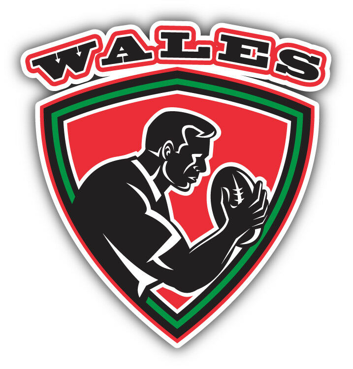 Wales Rugby Label Car Bumper Sticker Decal