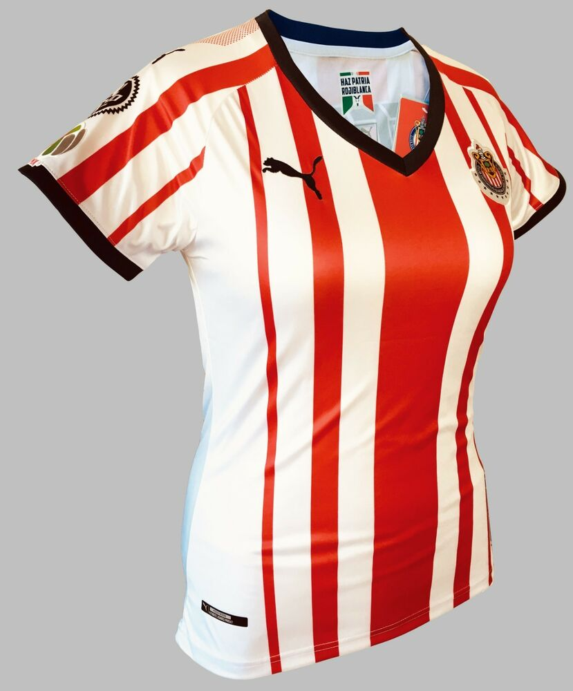 a40fed21179 Details about Chivas Home Women Soccer Jersey Shirt #9 Alan Pulido with  Liga Mx Patch New PUMA