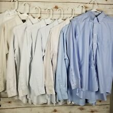 Lot of 8 Jos A Bank Travelers Button DownDress Shirts Tailored Fit Size 16 - 34