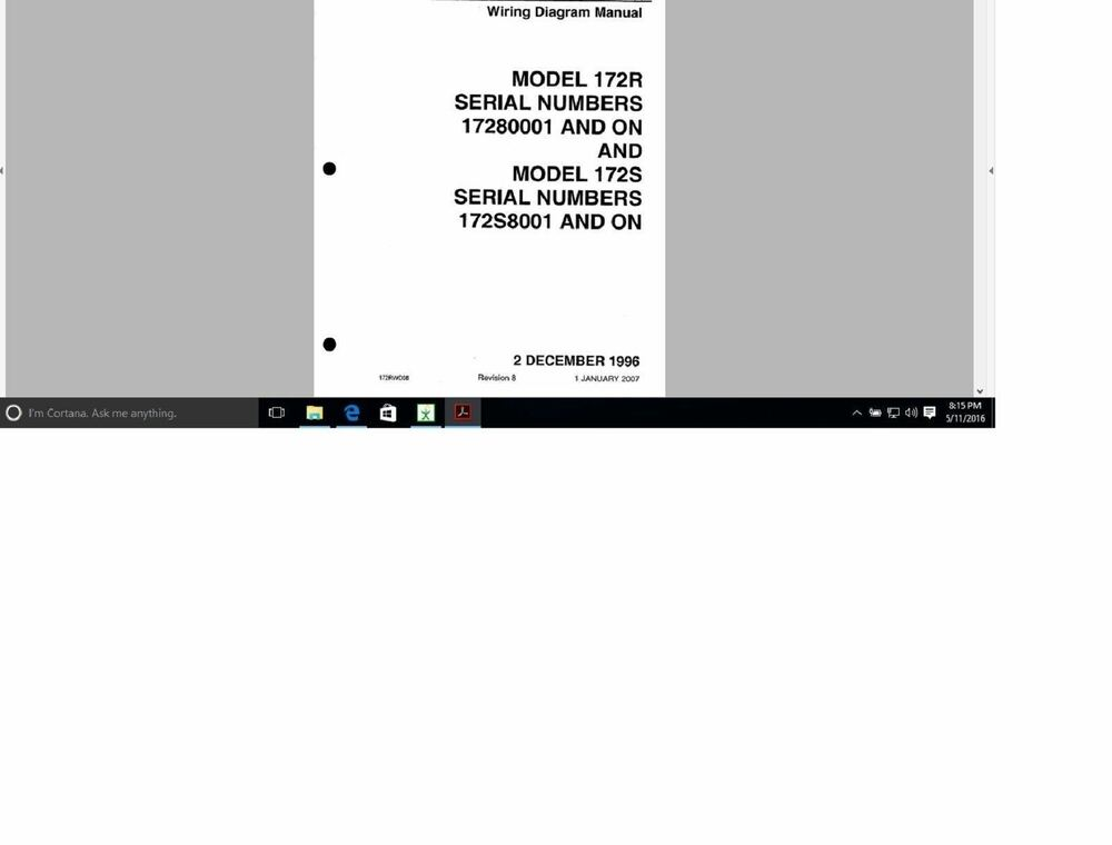 Amazing Cessna Aircraft 172 Wiring Diagram Electrical Manual 172R 172S Ebay Wiring 101 Relewellnesstrialsorg