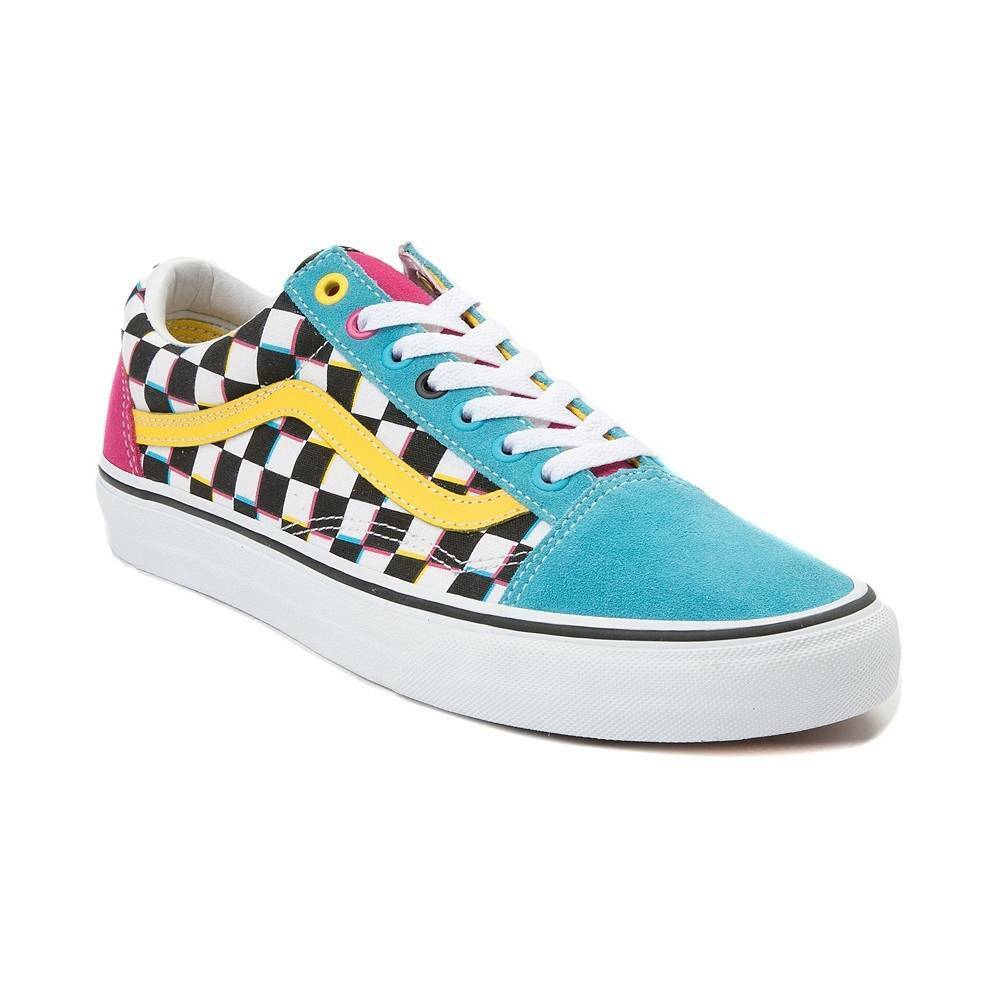 e6a21992056 Details about NEW Vans Old Skool Crazy Chex Skate Shoe Multi Checker Mens  Checkerboard