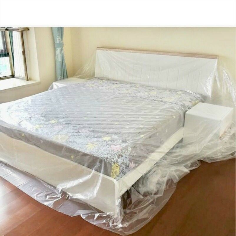 Furniture Dust Cover Plastic Cloth Sofa Bed Home Clean