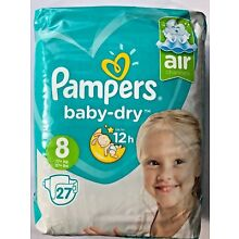 Pampers Baby Dry Size 8 Sample x2 Diapers Discrete Shipping European Import