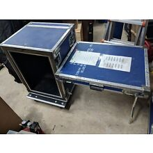 15U Anvil Road Case rack-mount flight built-in table and heavy duty wheels