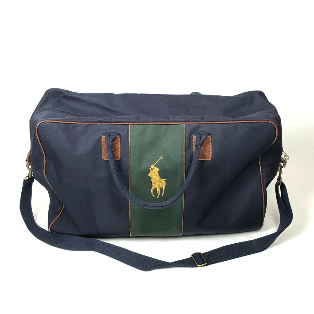 1989cab9284f Details about Polo Ralph Lauren Big Pony Large Canvas Travel Weekender Overnight  Duffle Bag