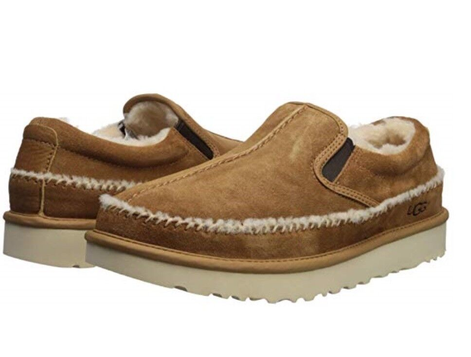 7f6b62aeee6 Details about NEW 2019 UGG MEN NEUMEL SLIP ON LUXURY SLIPPERS CHESTNUT  AUTHENTIC 1095353 CHE