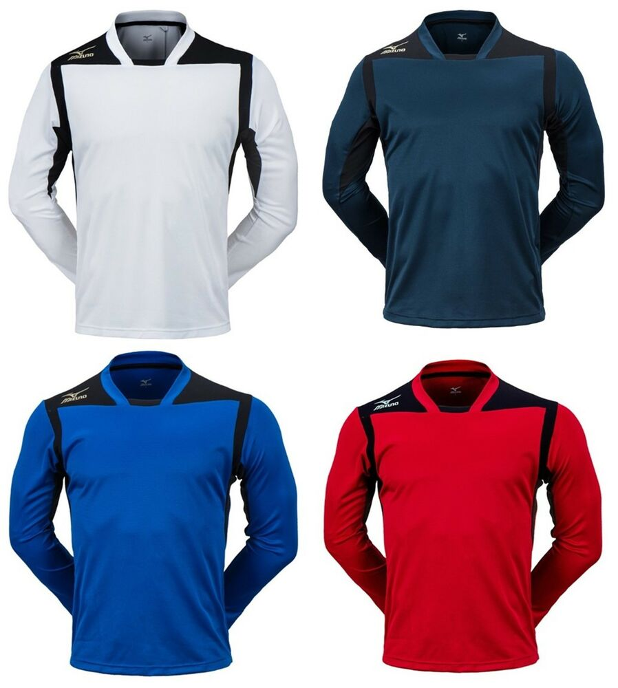 b6b70ef2401e Details about Mizuno Men GAME L/S T-Shirts Jersey Training Navy White Red  Top Shirt P2MA7K1214