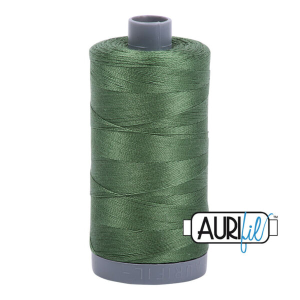 #2890~AURIFIL HAND QUILT & SEW~100% COTTON THREAD~DARK GRASS GREEN~28 WT~750 MT