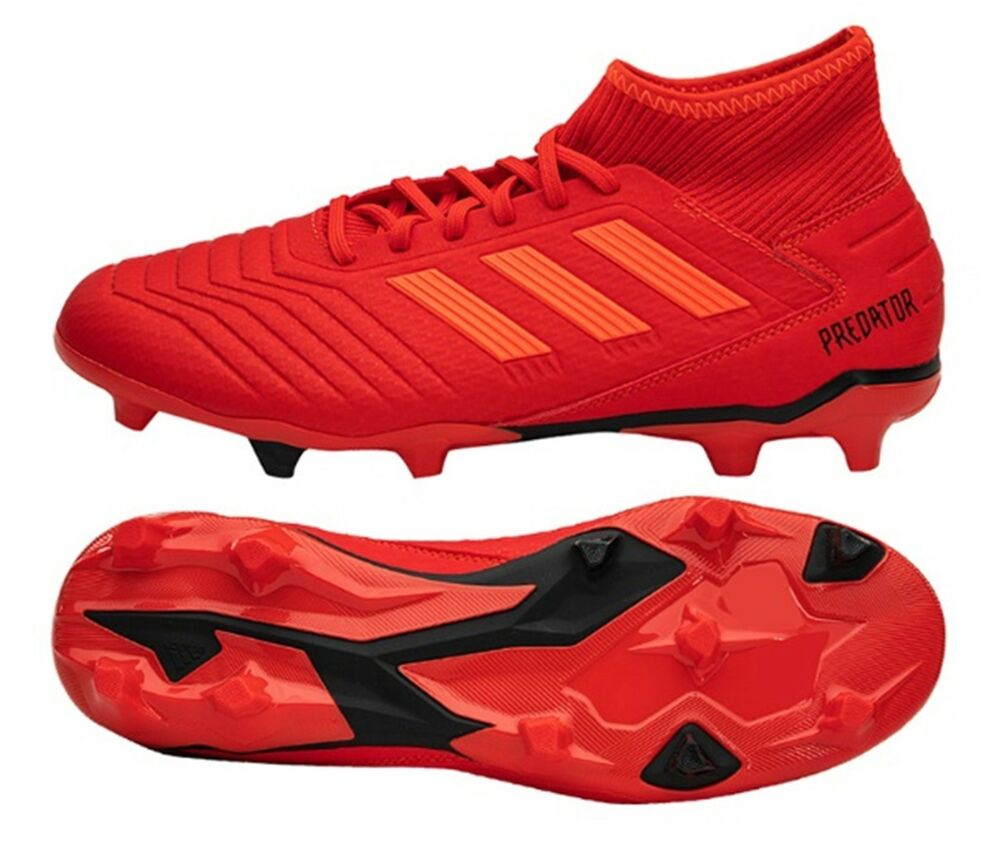 3af79e63e Details about Adidas Men Predator 19.3 FG Cleats Soccer Red Football Shoes  Boot Spike BB9334