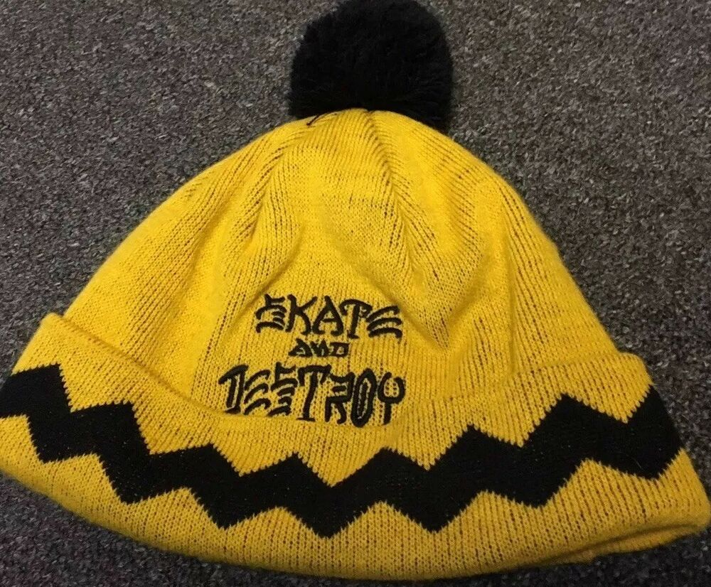 Details about Thrasher Charlie Brown Skate   Destroy Beanie Krooked Huf FA  Anti Hero H Street 89121aae779
