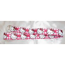 HELLO KITTY RED AND WHITE ID/KEY LANYARD