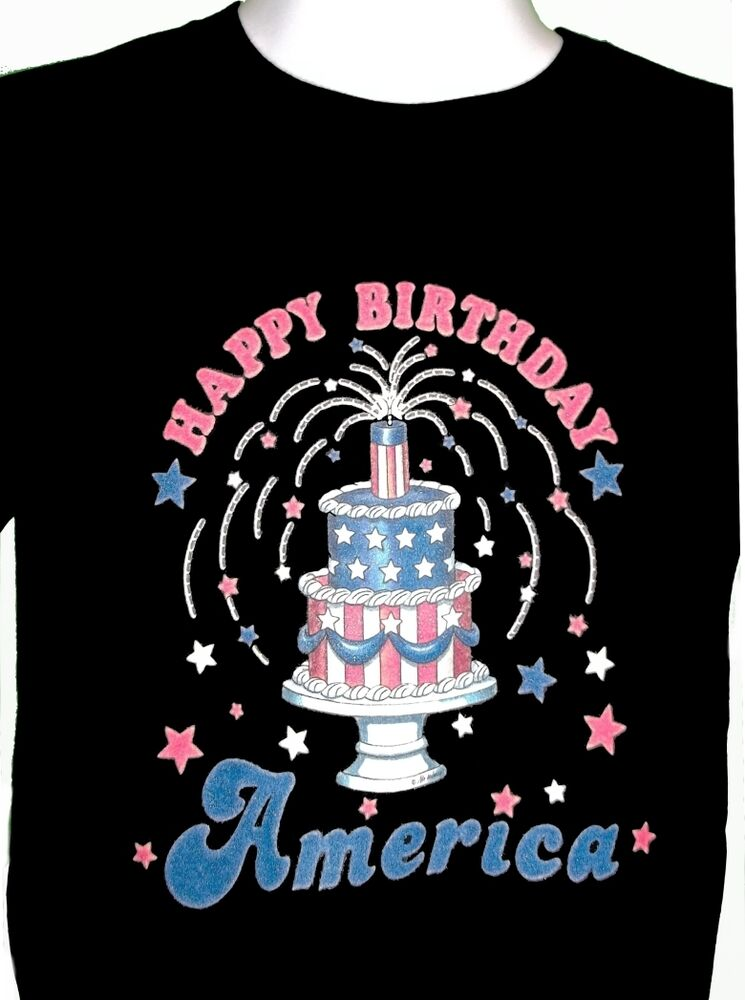 Details About Happy Birthday America Shirt July 4th Stars And Stripes Flag Patriotic Tee