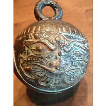 Antique Bronze Elephant Bell Asian, Two Different Faces